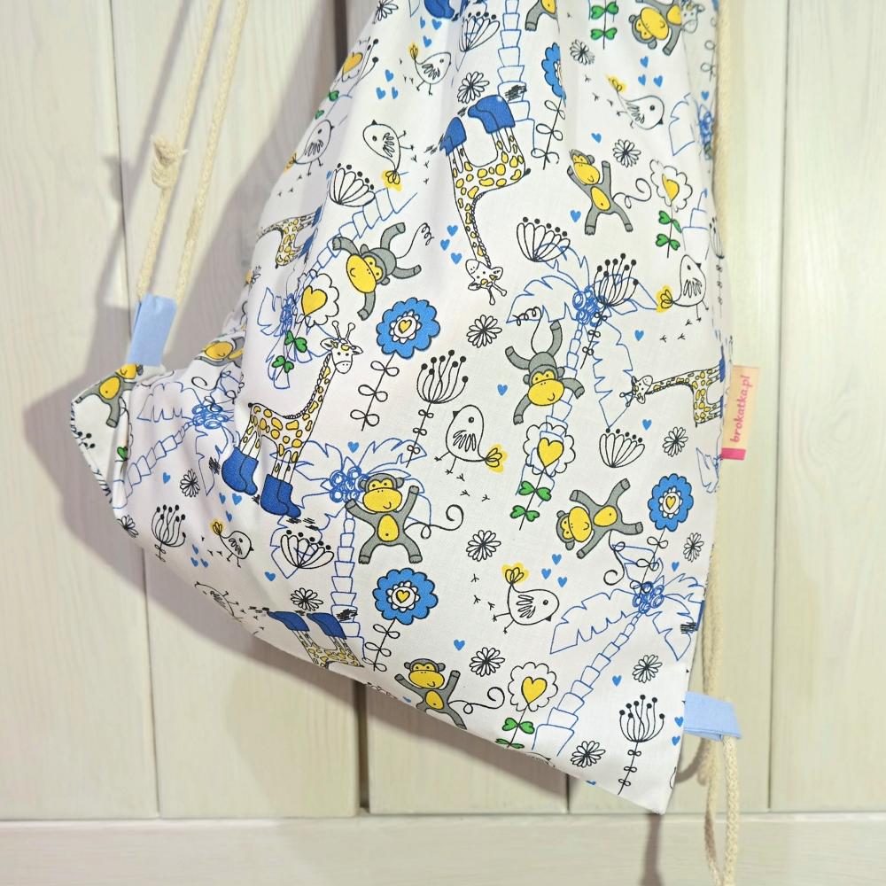 Worko-plecak bawełniany w małpki