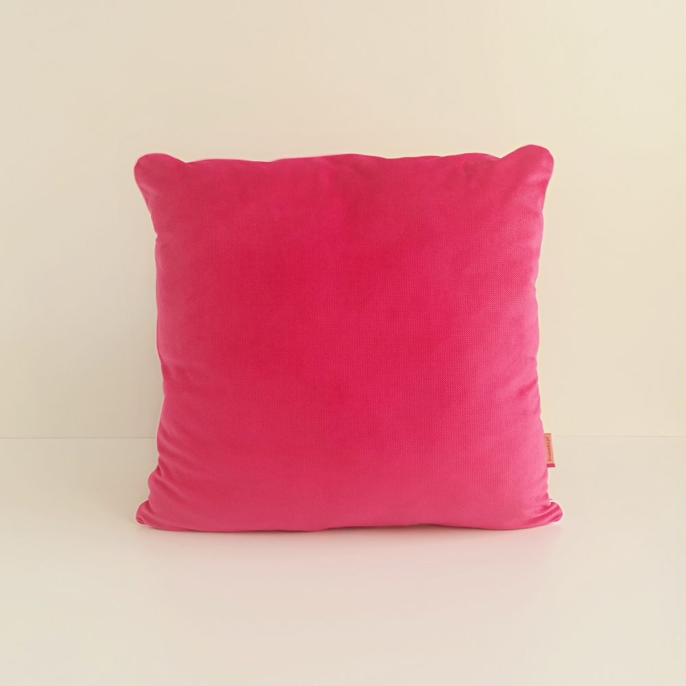 Poduszka dekoracyjna z wypustką, velvet