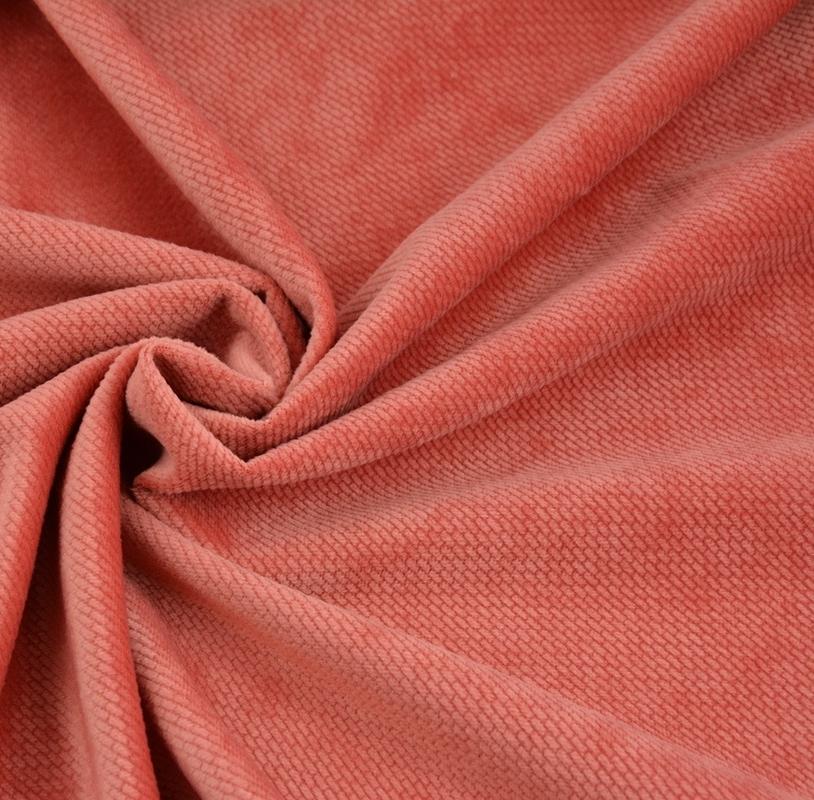 poduszka dekoracyjna, velvet gładki, kolor ciemny łososiowy