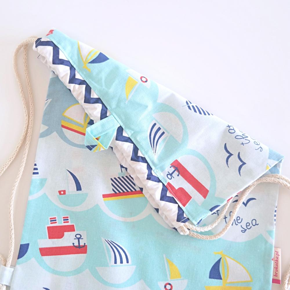 Worko-plecak z wieszaczkiem na odzież zmienną do żłobka