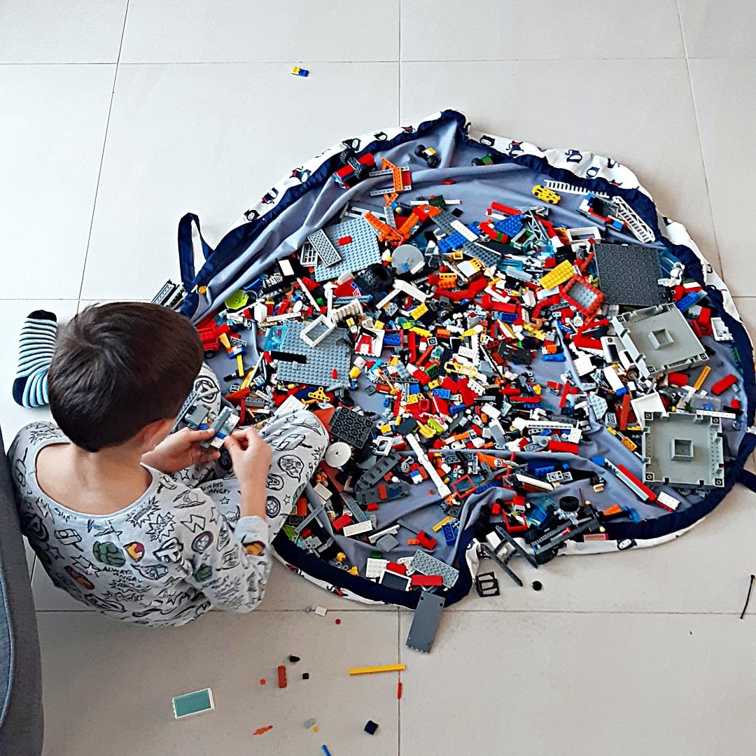 worko-mata dla dzieci do zabawy z klockami