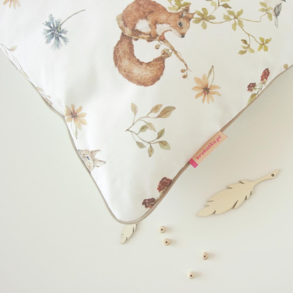 poduszka jasiek dla dziecka wiewiórki sarenki
